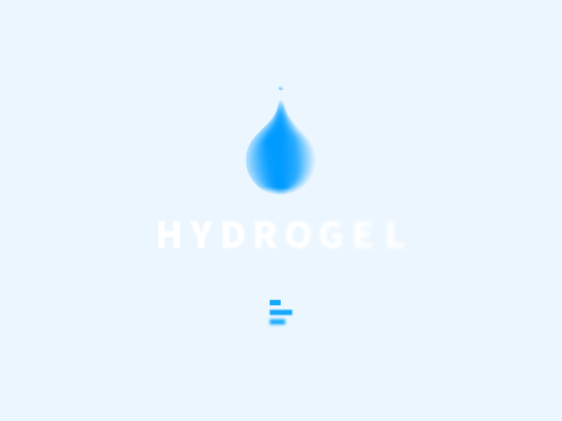 Hydrogel Lab iconography brand identity brand design logo design drop beautifying watercolor hydrogel water vector branding logo icon digital visual ux ui graphic design cosmetology