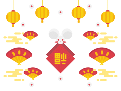 Chinese New Year 春節 lunar lunar new year zodiac sign zodiac chinese new year chinese culture 2020 new year illustration visual ux ui graphic design
