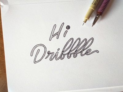 My First shot with Lettering