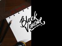 Black Venom Lettering Logo