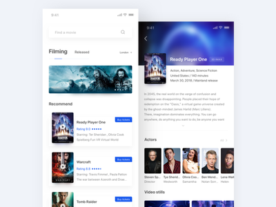 Day 2 movie project white ux ui character iphone x starry blue movie iphonex