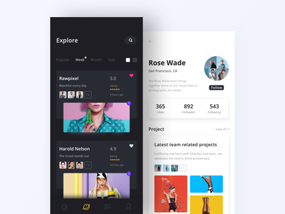 Photographer Portfolio App iphonex iphone x ui app interface ux branding design queble portfolio photography flat