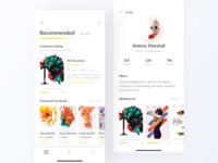 Reading App Design Project - Home & Profile