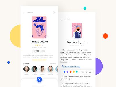 Reading App Design Project - Detail & Reading book read iphone x reading queble interface flat design iphonex ux app ui