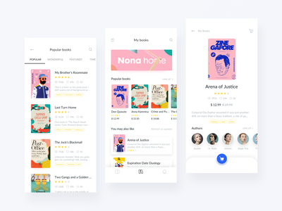 Reading App Design Project - Interactive 2 iphone x iphonex motion interaction design icon typography illustration clean reading animated animation read branding book queble interface design app ux ui