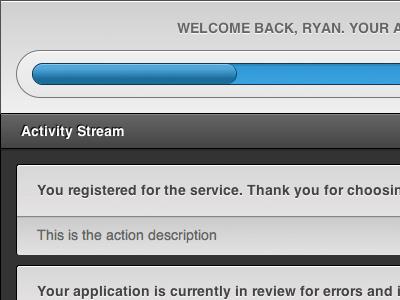 Application progress stream