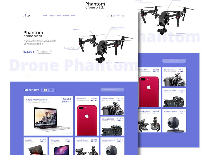 Website Design Online Shop clean portofolio shop online shop illustration desktop app illustrator design graphic web website ui ux