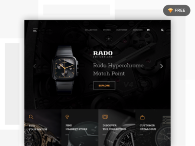 Landing Page sketch website watch ux ui landing page daily 002 100