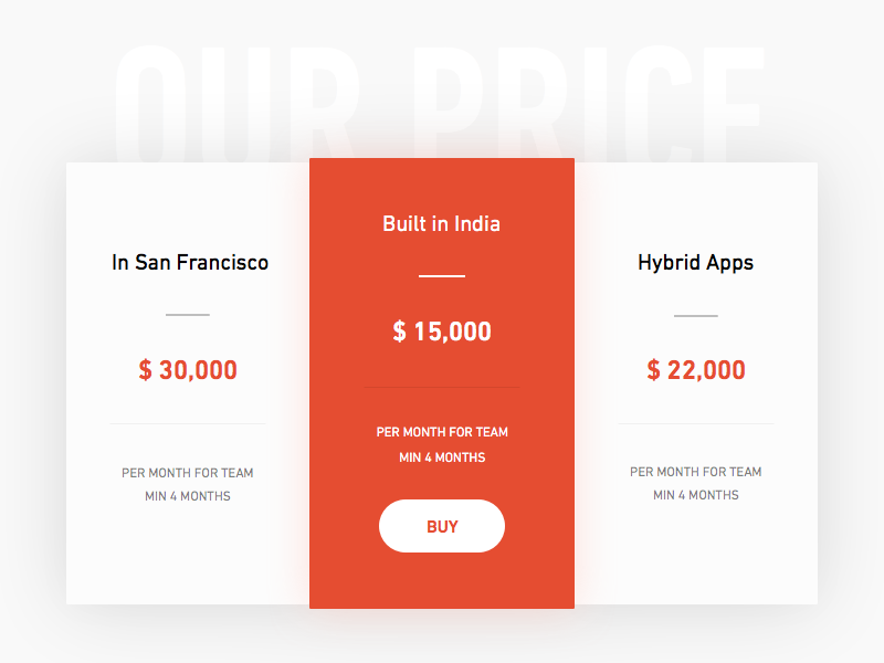 Price Table - Day #006 web material sketch ux ui table price daily 006 100