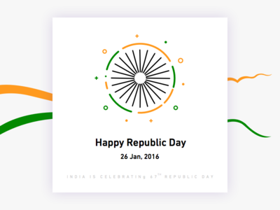 Republic Day - Day #18 day 18 web clean info card sketch free india republic day ui daily
