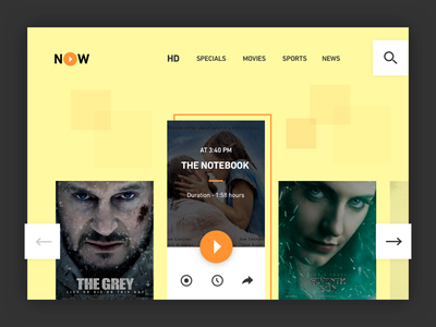 Online Movies - Day #23 day 23 web clean sketch free website movies online ui daily