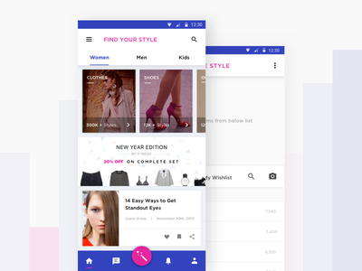 Find Your Style vibrant mobile flat design material android young buy fashion style