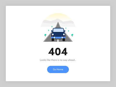 404 rise hills morning typography blocker road jeep illustration browser error 404