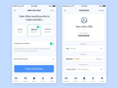 Set A Goal ios mobile blue budgeting expanses spending plan money banking goal