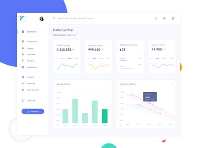 Lender Dashboard user panel lending graphs stats web ui clean interface uiux dashboard