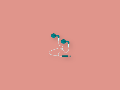 Tech Icons - Earbuds vector flat design earbuds headphones sound audio technology icons tech