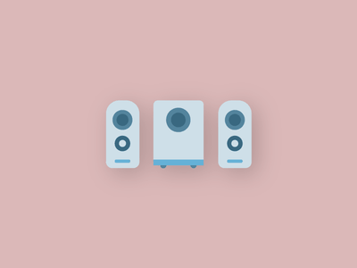 Tech Icons - Speakers design modern flat vector audio music sound pc set icons technology tech