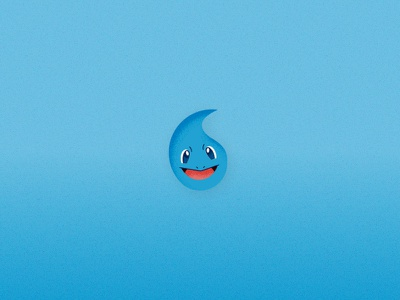 Pokemon Elements - Squirtle water flat vector illustration art graphic design game cute squirtle element pokemon