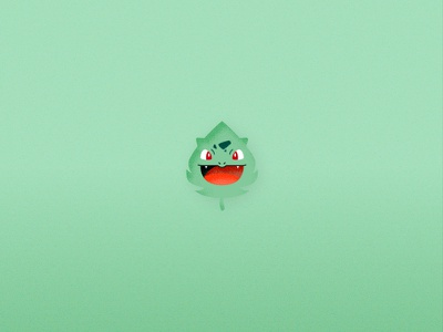 Pokemon Elements - Bulbasaur vector flat illustration graphic design art game cute leaf nature element pokemon bulbasaur