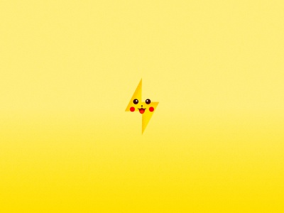 Pokemon Elements - Pikachu design logo icon illustration graphic flat vector cute lightning bolt thunder pikachu pokemon