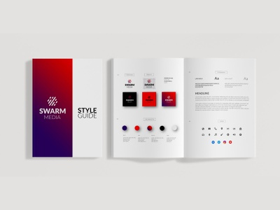 Swarm Media Style Guide media industry music business corporate styleguide guidelines identity brand