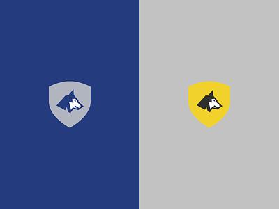 Wolf Mascot Logo Design illustration graphic animal flat vector husky malamute dog design logo mascot wolf