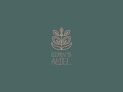 Elements of Aliel Logo Design graphic illustration eco health beauty wellness nature line modern logo vector flat design