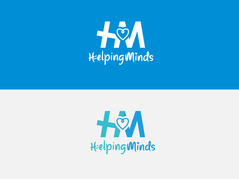 Helping Minds logo design