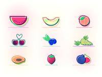Summer Fruits ☀️🍉🍈 🍑  🍒 🍇 🍓