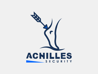 Achilles Security logo concept vector security mythology logo illustration greek flat design company