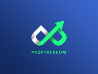 Propthereum Cryptocurrency Logo & Coin Design