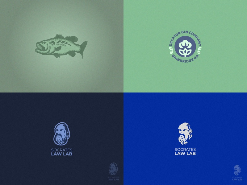 2018 philosopher philosophy greece ancient logo mark symbol graphic socrates cotton fish vector flat design top4shots top4 2018