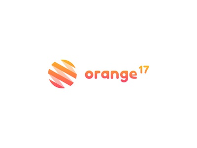 Orange17 Logo Design branding orange consulting marketing illustration vector flat design logo