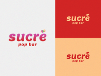 Sucré pop bar Logo Design