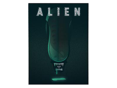 ALIEN illustrator vector film poster illustration xenomorph alien