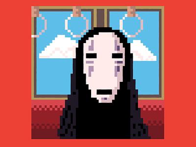 No Face vector illustration hayaomiyazaki pixelart spiritedaway noface