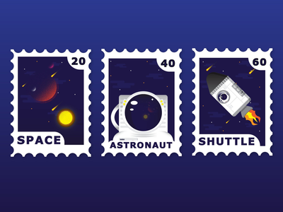 Space stamps series.