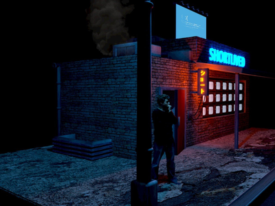 Shortlived Store Front pt2 neon futuristic cyberpunk sci-fi concept design cinema4d 3d