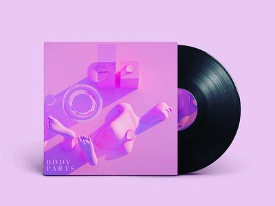 Body Parts neon pink album art sci-fi concept design cinema4d 3d