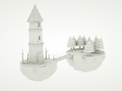 Low poly Wizards tower