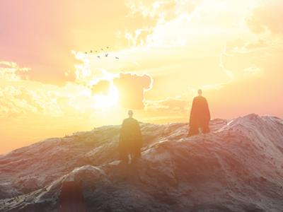 Making the pilgrimage monk 3d design texturing lighting c4d render 3d scifi