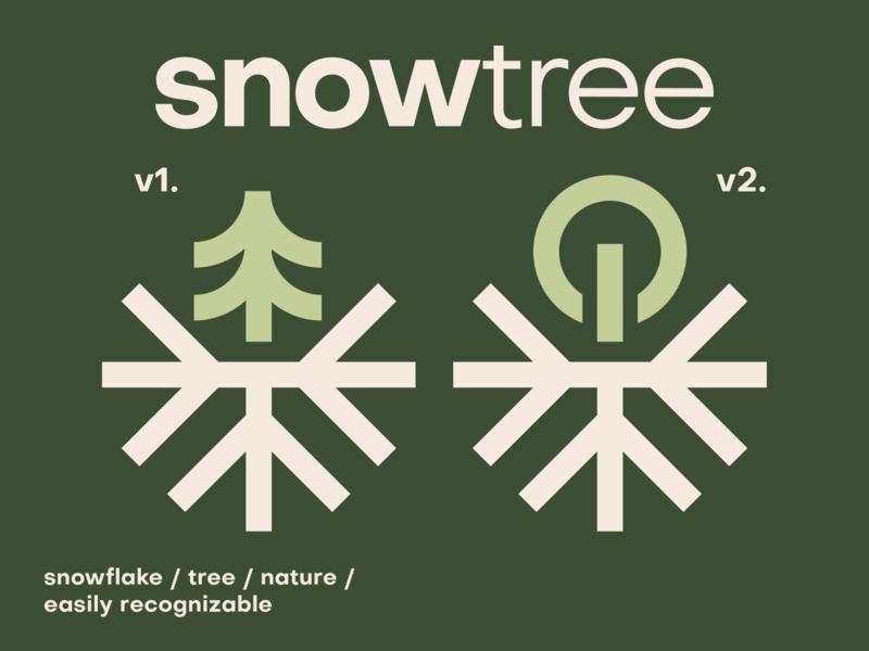 Snowtree™ Concepts design logo icon brand identity icon abstract grid logodesign logotype snowflake nature logo tree snow
