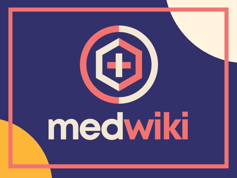 medwiki illustration company design abstract medicines medical medicine nature health medical logo