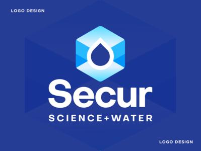 Secur science water drop gradient app brand identity logo icon medical logo medical health