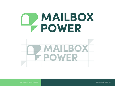 Mailbox Power minimal brand identity logo icon lightning bolt power mailbox email mail
