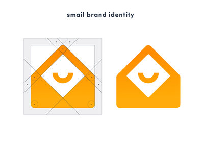 Smail Logo email marketing moderm orange gradient delivery mail logo icon email
