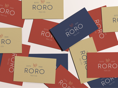 Roro Tea Co feminine minimal health wellness nature drink logo design tea