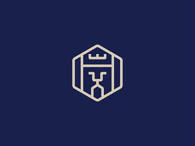 Lion illustration abstract minimal grid design logo logo icon brand identity icon lion logo