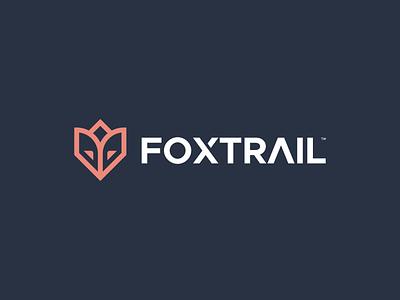 FOXTRAIL line art lineart head minimal forest nature animal brand identity logo icon fox