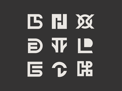 Monogram Collection minimal logo mark symbol icon logo mark letters logo letters brand identity logo monogram